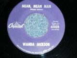 "WANDA JACKSON  - MEAN MEAN MAN  : HAPPY HAPPY BIRTHDAY ( MINT-/Ex++ Looks:MINT-)  / 1960 US AMERICA ORIGINAL Used 7""Singl"