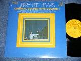 JERRY LEE LEWIS - ORIGINAL GOLDEN HITS VOL.1 (Matrix # XSBV-130191-1ESUN-102A/XSBV-130192-1F SUN-102B )  ( Ex+/MINT- )  / 1969 US AMERICA  ORIGINAL Used LP