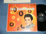 "ELVIS PRESLEY -  ELVIS' GOLDEN RECORDS  ( Matrix # H2 WP-8398-6S/H2 WP-8399-6S )( Ex++/MINT- ) / 1958 US AMERICA ORIGINAL 1stPress ""Light BLUE TITLE on Front Cover""  ""SILVER RCA VICTOR logo on Top & Long Play  at BOTTOM"" Label   MONO Used LP"