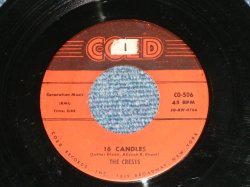 "画像1: THE CRESTS - 16 CANDLES : RBESIDE YOU ( Ex/Ex  :STOL ) / 1959 US AMERICA ORIGINAL 1st Press ""CORONATION MUSIC PUBLISHERS Credit"" Label Used 7"" 45 Single"
