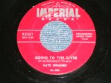 """FATS DOMINO - GOING TO THE RIVER : MARDI GRA IN NEW ORLEANS ( Ex++/Ex++ )  / 1953  US AMERICA 2nd Press """"RED Label"""" Used 7"""" Single"""
