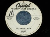 "BIG DAVE (BILL HALEY'S MEMBER) - ROCK AND ROLL PARTY : YOUR KIND OF LOVE  ( Ex/Ex ) / 1956 US AMERICA ORIGINAL ""WHITE LABEL PROMO""  Used 7"" 45 Single"
