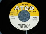 NINO TEMPO & APRIL STEVENS - WHISPERING  : TWEEDLEEE DEE  (Ex/Ex ) / 1963 US AMERICA ORIGINAL Used 7""