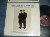 """THE EVERLY BROTHERS - The FABULOUS STYLE OF The EVERLY BROTHERS (Matrix #  A)CLP-3040-1  TM-6157   B) CLP-3040-2  TM-6158 )(Ex+/Ex++ )  / 1963 US ORIGINAL """"MAROON Label"""" MONO Used LP"""