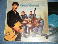 "画像1: GENE VINCENT AND HIS BLUE CAPS  - GENE VINCENT AND HIS BLUE CAPS  (Ex+/Ex++ Looks:Ex- EDSP, Tape Seam) / 1957 US AMERICA ORIGINAL 1st Press""TURQUOISE Label"" MONO Used LP"