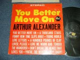 "ARTHUR ALEXANDER - YOU BETTER MOVE ON (Ex+/Ex+++) / 1963 US AMERRICA ORIGINAL ""STEREO"" Used LP"