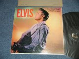 "ELVIS PRESLEY -  ELVIS (  Matrix #     A) G2 WP-7207-3S     B)G2 WP-7208-3 S ) ( Ex/Ex++ Tape Seam ) / 1956 US AMERICA ORIGINAL 1st Press ""ADS on BACK COVER"" ""SILVER RCA VICTOR logo on Top & LONG PLAY at BOTTOM  Label"" ""BAND 1 Through 6 Track Listed Label""  MONO Used LP"