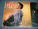 "ELVIS PRESLEY -  ELVIS (  Matrix #     A) G2 WP-7207-4S     B)G2 WP-7208-4S ) ( VG+++/POOR, VG SEAM, JUMP WOBC ) / 1956 US AMERICA ORIGINAL 1st Press ""ADS on BACK COVER"" ""SILVER RCA VICTOR logo on Top & LONG PLAY at BOTTOM  Label""  MONO Used LP"