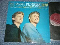 """画像1: The EVERLY BROTHERS - The EVERLY BROTHERS' BEST : ORANGE PRINT on BACK COVER  (Ex+/Ex) / 1959 US ORIGINAL 1st Press """"MAROON Label With METRONOME Logo"""" :MONO Used LP"""