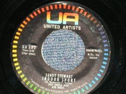 """画像1: SANDY STEWART - INDOOR SPORT : TIME WAITS FOR NO MORE  (Ex++/Ex++ ENDING:Ex) / 1960 US AMERICA ORIGINAL Used 7"""" Single"""