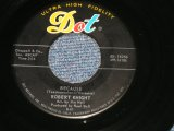 "ROBERT KNIGHT - BECAUSE(SLOW DOO WOP with BACK CHORUS : DANCE ONLY WITH ME (SAM COOKE STYLE MID TEMPO) ( Ex++/Ex++ )   / 1961 US AMERICA ORIGINAL Used 7"" 45rpm Single"