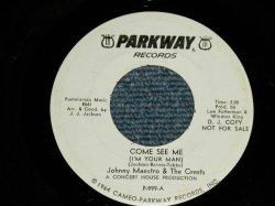 """画像1: JOHNNY MAESTRO & THE CRESTS - COME SEE ME :  I CARE ABOUT YOU ( MINT-/MINT- ) / 1966 US AMERICA ORIGINAL """"WHITE LABEL PROMO""""  Used 7"""" 45 Single"""