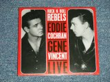 "EDDIE COCHRAN & GENE VINCENT - LIVE ROCK 'N ROLL REBELS (Sealed) / 2009 GERMANY ORIGINAL ""Brand New Sealed""  CD"