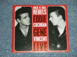 """画像1: EDDIE COCHRAN & GENE VINCENT - LIVE ROCK 'N ROLL REBELS (Sealed) / 2009 GERMANY ORIGINAL """"Brand New Sealed""""  CD"""