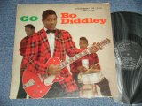 "BO DIDDLEY -  GO BO DIDDLEY (Ex/Ex-  Looks:VG+++)  / 1959  US AMERICA ORIGINAL ""Dark Black with Silver Print label""  MONO Used LP"