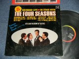 THE 4 FOUR SEASONS - ON STAGE WITH THE 4 FOUR SEASONS ; RECORDED LIVE (Ex++/Ex+++)   / 1965 US AMERICA ORIGINAL used LP