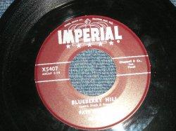 """画像1: FATS DOMINO -  A) BLUEBERRY HILL  B) HONEY CHILD ( Ex+/Ex+ )  / 1956 US AMERICA 1st Press """"MAROON Label"""" Used 7"""" Single"""