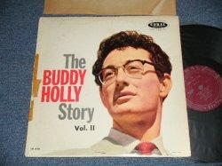 """画像1: BUDDY HOLLY  - The BUDDY HOLLY STORY vol.ii 2 ( Ex/Ex Looks:VG+++, B-4,5:VG多ぺ)  / 1959 US ORIGINAL """"MAROON  LABEL"""" MONO  Used LP"""