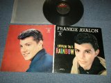 "FRANKIE AVALON - ..SWINGIN' ON A RAINBOW : NONE POSTER/withPIN-UP (Ex-++/Ex+++) / 1959 US AMERICA ORIGINAL 1st Press ""BLACK Label""  MONO Used  LP"