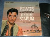"ELVIS PRESLEY - HARUM SCARUM  ( Matrix #  A)4S / B) 6S )  (Ex+/Ex++ Looks:Ex+ ) / 1965 US AMERICA ORIGINAL ""WHITE RCA^Victor Logo on TOP, STEREO at BOTTOM Label""  STEREO Used LP"