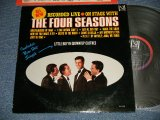 THE 4 FOUR SEASONS - ON STAGE WITH THE 4 FOUR SEASONS ; RECORDED LIVE (Ex++/Ex+++)   / 1965 US AMERICA ORIGINAL MONO used LP