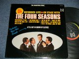 THE 4 FOUR SEASONS - ON STAGE WITH THE 4 FOUR SEASONS ; RECORDED LIVE (Ex+++/Ex+++)   / 1965 US AMERICA ORIGINAL STEREO used LP
