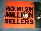 "RICKY NELSON - MILLION SELLERS  (Ex+++/MINT-) / 1964 US AMERICA ORIGINAL 1st Press ""BLACK with PINK & WHITE Label""  STEREO Used LP"