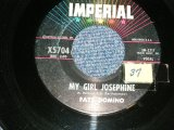 "FATS DOMINO -  A) MY GIRL JOSEPHINE  B) NATURAL BORN LOVER ( Ex++/Ex++ STOL )  / 1960 US AMERICA Used 7"" Single"