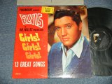 "ELVIS PRESLEY - GIRLS! GIRLS! GIRLS!  (MATRIX # A) N22P-3293-5S B) N22P-3294-5S )  (Ex+/Ex+++, Ex++ Looks:Ex+l) / 1962 US AMERICA 1st Press ""SILVER RCA VICTOR LOGO & LONG PLAY at bottom Label"" MONO Used LP"