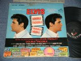 "ELVIS PRESLEY -  DOUBLE TROUBLE   (MATRIX # A) UPRS-3945-3S B1 R   B) UPRS-3946-3S A1 R )  ( MINT-/Ex+++) / 1967 US AMERICA 1st Press ""WHITE RCA VICTOR LOGO & STEREO at bottom Label""  Used LP"