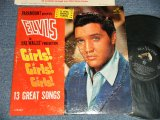 "ELVIS PRESLEY - GIRLS! GIRLS! GIRLS!  (MATRIX # A) N22P-3293-5S B) N22P-3294-5S )  (Ex-/Ex  EDSP) / 1962 US AMERICA 1st Press ""SILVER RCA VICTOR LOGO & LONG PLAY at bottom Label"" MONO Used LP"
