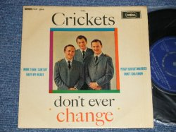 "画像1: THE CRICKETS - DON'T EVER CHANGE (Ex++/Ex+++ Looks:Ex++) / 1962 UK ENGLAND Original Used 7"" EP"