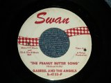 "GABRIEL AND THE ANGELS (BOY TEEN-POP with GIRL Groups) - A) THE PEANUT BUTTER SONG  B) ALL WORK-NO PLAY (Ex/Ex BB) / 1963 US AMERICA Original Used 7"" Single"