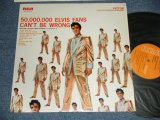 "ELVIS PRESLEY - ELVIS' GOLDEN RECORDS - VOL.2 : 50,000,000 ELVIS FANS CAN'T BE WRONG (MINT-/Ex+++ Looks:MINT-) / US AMERICA REISSUE ""ORANGE Label""  STEREO Used LP"
