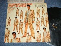 """画像1: ELVIS PRESLEY - ELVIS' GOLDEN RECORDS - VOL.2 : 50,000,000 ELVIS FANS CAN'T BE WRONG (MATRIX # A) K2PP-2713  B)K2PP-2714  )  (Ex++/Ex+ Looks:Ex  EDSP) /1961 Version US AMERICA 2nd Press """"SILVER RCA VICTOR logo on Top & Large MONO at BOTTOM Label"""" MONO Used LP"""