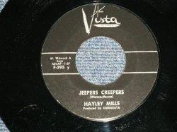 """画像1: HAYLEY MILLS - A) JEEPERS CREEPERS  B) JOHNNY JINGO (Ex++/Ex++) / 1962 US AMERICA ORIGINAL Used 7"""" Single"""