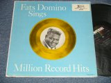 "FATS DOMINO - SINGS MILLION RECORD HITS (Ex+/Ex+++ SEAM EDSP) /1960 US AMERICA ORIGINAL 1st press ""BLACK with COLORED STARS at TOP Label""  MONO Used  LP"