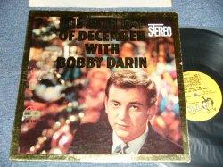 """画像1: BOBBY DARIN - THE 25TH DAY OF DECEMBER WITH  BOBBY DARIN (Ex++/Ex+ TAPESEAM) / 1960 US ORIGINAL 1st Press """"YELLOW Label"""" STEREO Used LP"""