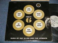 """画像1: RAY ALLEN AND THE UPBEATS - TRIBUTE TO 6 (VG++, Ex++/Ex+++ TEARBRKOFC) /1962 US AMERICA ORIGINAL """"WHITE LABEL PROMO"""" MONO Used LP"""