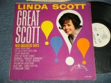 "LINDA SCOTT - GREAT SCOTT! HER GREATEST HITS (Ex++/Ex+) / 1962 US AMERICA ORIGINAL ""WHITE LABEL PROMO"" MONO Used LP"