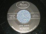 "The DIAMONDS- A) LITTLE DARLIN'  B) FAITHFUL AND TRUE (Ex/Ex) / 1957 US AMERICA ORIGINAL ""BLACK Label Version""  Used 7""SINGLE"