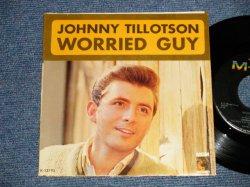 """画像1: JOHNNY TILLOTSON - A) Worried Guy  B) Please Don't Go Away(Ex+++/Ex+++) / 1964 US AMERICA ORIGINAL Used 7"""" SINGLE  with PS Picture Sleeve"""