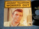 "JOHNNY TILLOTSON - A) Worried Guy  B) Please Don't Go Away(Ex+/Ex++) / 1964 US AMERICA ORIGINAL Used 7"" SINGLE  with PS Picture Sleeve"