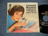 "CONNIE FRANCIS - A) SECOND HAND LOVE (Phil Spector Works)  B) GONNA GIT THAT MAN (Ex++/Ex+++) / 1962 US AMERICA ORIGINAL Used 7"" SINGLE With PICTURE SLEEVE"