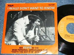 "画像1: ELVIS PRESLEY - I REALLY DON'T WANT / 1971 US ORIGINAL 7""45rpm Single With Picture Sleeve"