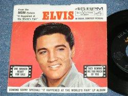 """画像1: ELVIS PRESLEY - ONE BROKEN HEART FOR SALE / 1963 US ORIGINAL 7""""45rpm Single With Picture Sleeve"""