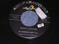 """画像1: THE NORMAN PETTY TRIO ( BUDDY HOLLY ) - ALMOST PARADISE / 1957 US Reissue 7"""" Single With PICTURE SLEEVE"""