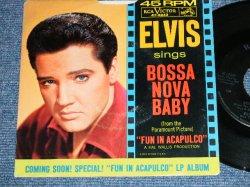 """画像1: ELVIS PRESLEY - BOSSA NOVA BABY / 1963 US ORIGINAL 7""""45rpm Single With Picture Sleeve"""