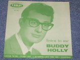 "BUDDY HOLLY - LISTEN TO ME ( Debut EP/ Re-Pressing Cover ) / 1958 UK ORIGINAL Re-Pressing Cover 7""EP With PICTURE SLEEVE"