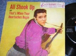"""画像1: ELVIS PRESLEY - ALL SHOOK UP / 1957 US ORIGINAL 7""""45rpm Single With Picture Sleeve"""
